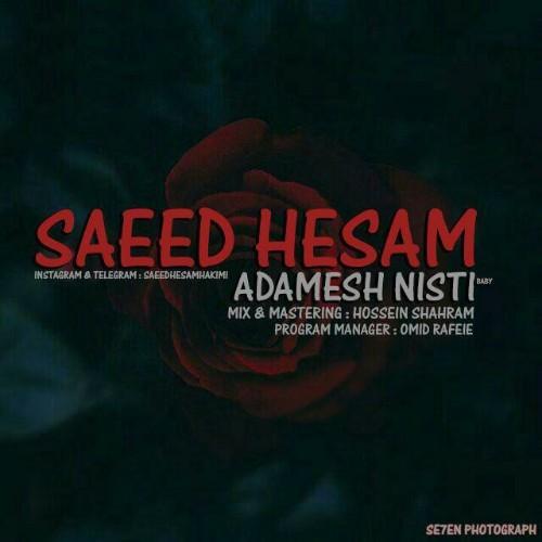 دانلود آهنگ جدید سعید حسام به نام آدمش نیستی
